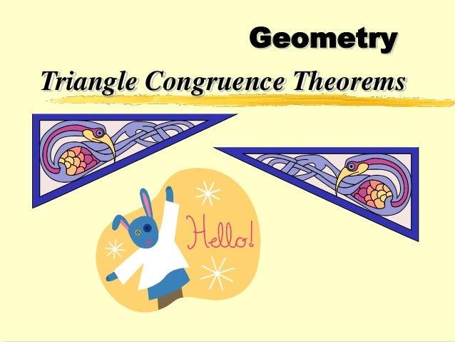 Geometry Triangle Congruence Theorems