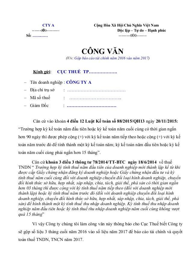 CTY A Cộng Hòa Xã Hội Chủ Nghĩa Việt Nam -------000---------- Độc lập – Tự do – Hạnh phúc Số: ………… ---------000-------- CÔ...