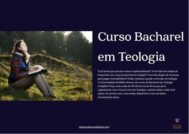 Conheca a nossa grade curricular de teologia