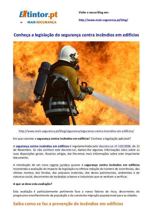 Conheça  a  legislação  de  segurança  contra  incêndios  em  ...