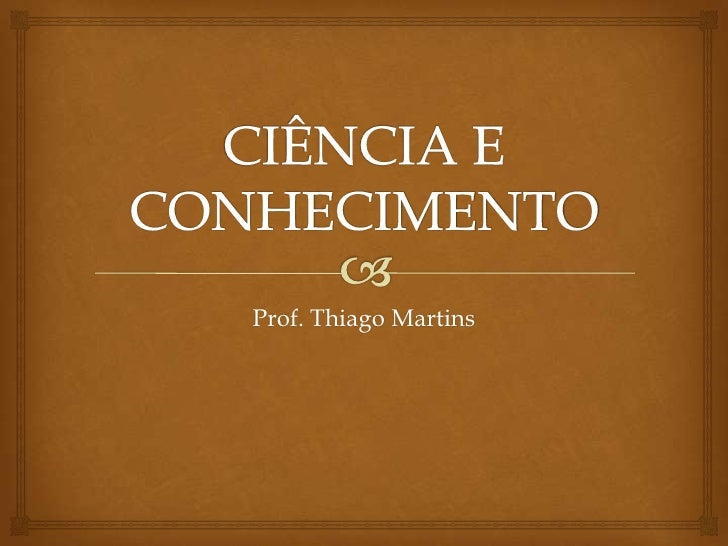 Prof. Thiago Martins