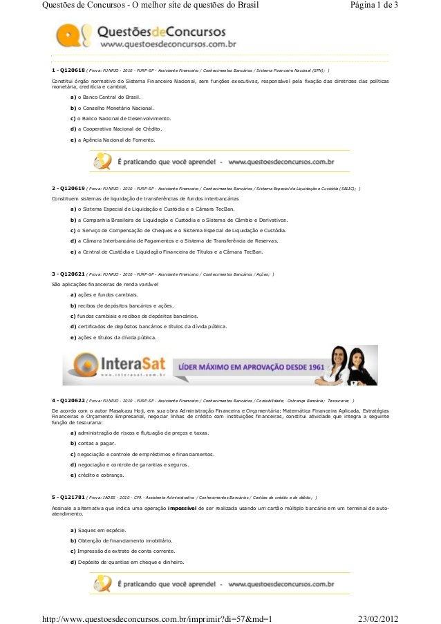 Questões de Concursos - O melhor site de questões do Brasil                                                               ...