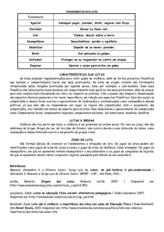 Conhecimentos em-educação-física-6ºano-p.3-lutas-historia-classificação-fundamentos. Slide 3