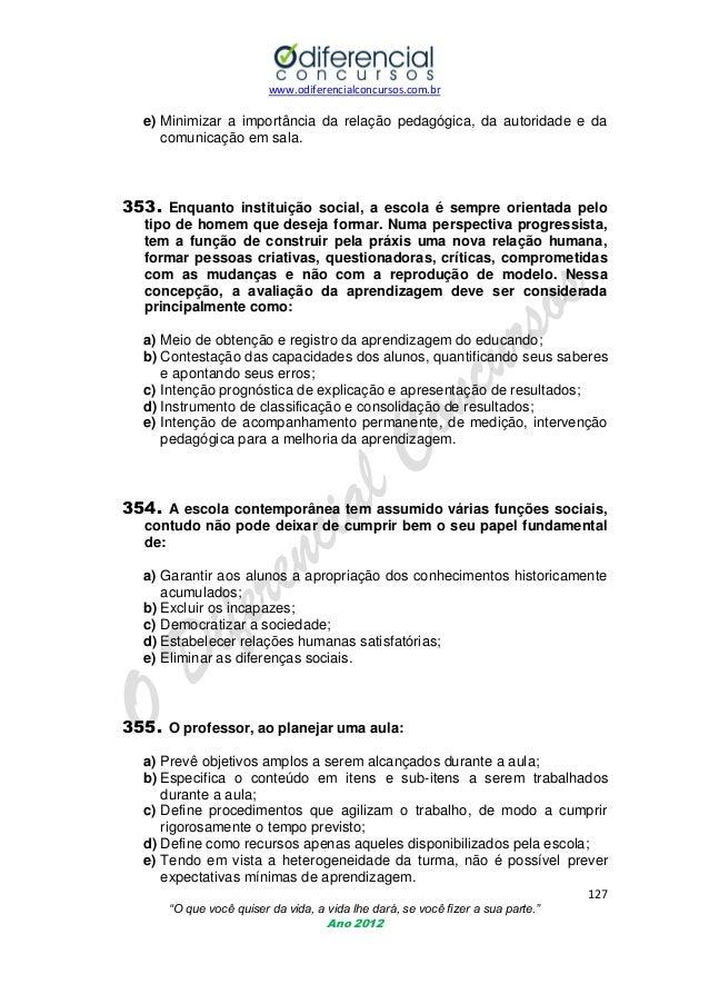 Conhecimentos pedagógicos- 500 questões comentadas