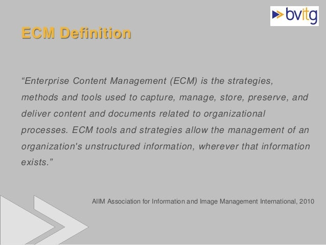 [DE] ECM Enterprise Content Management: Infrastruktur für