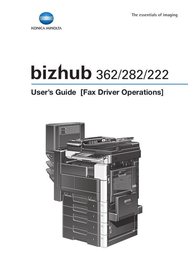 User's Guide [Fax Driver Operations]