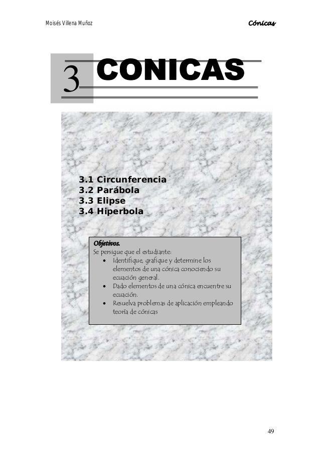 Moisés Villena Muñoz                                                      Cónicas       3             3.1        Circunfer...