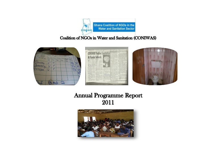 Coalition of NGOs in Water and Sanitation (CONIWAS)       Annual Programme Report                 2011