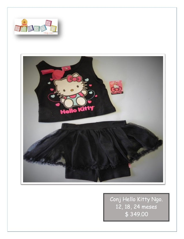 3 pzas Algodón Conj Hello Kitty Ngo. 12, 18, 24 meses $ 349.00