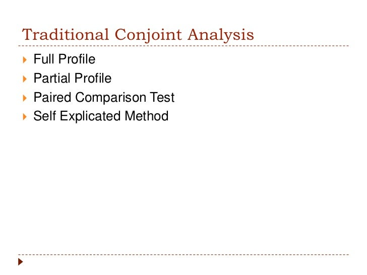 conjoint analysis 95commercial use of conjoint analysis in australia and new zealand rajendra mulye, royal melbourne institute of technology, australia abstract this study.