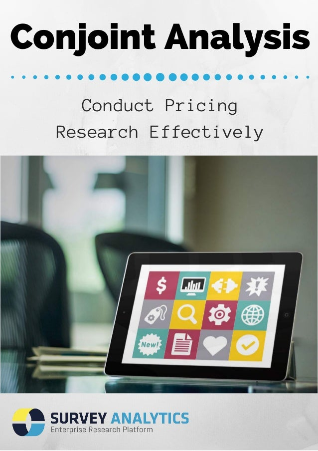 Conjoint Analysis  Conduct Pricing  Research Effectively