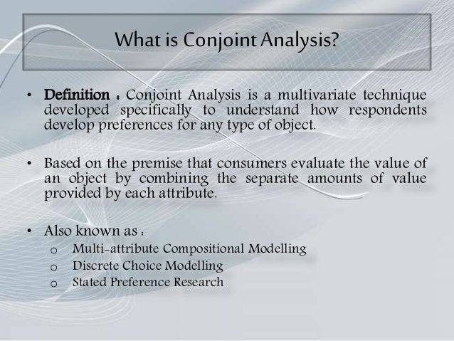 Conjoint Analysis Slide 2