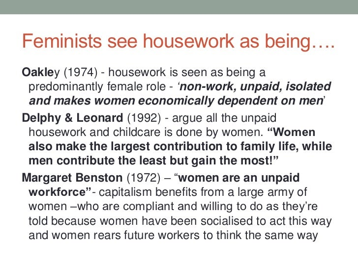 """the gender division of labour sociology essay As one study summarized the evidence on this issue, """"women invest significantly more hours in household labor than do men despite the narrowing of gender differences in recent years"""" (bianchi, milkie, sayer, & robinson, 2000, p 196."""