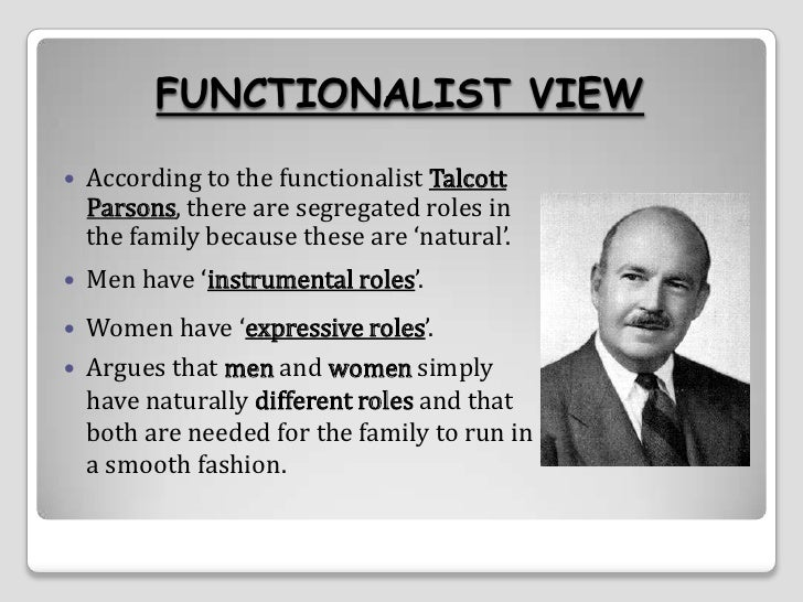 talcott parsons views on american sociology How does the functionalist perspective in sociology apply today doing research recently into talcott parsons's branch of functionalism  (parsons) and.