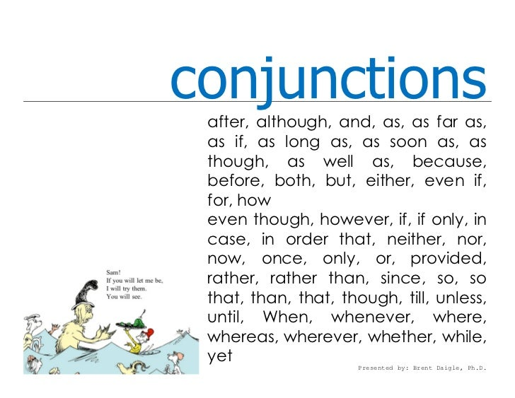 Conjunction Lesson With Example Sentences