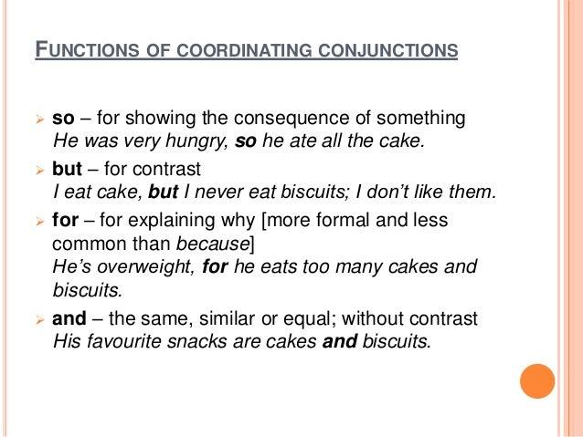 Conjunction slides