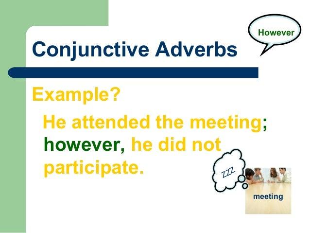 English Grammar Conjunctive Adverbs