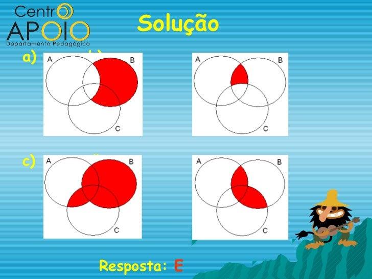 Soluçãoa)   b)c)   d)      Resposta: E