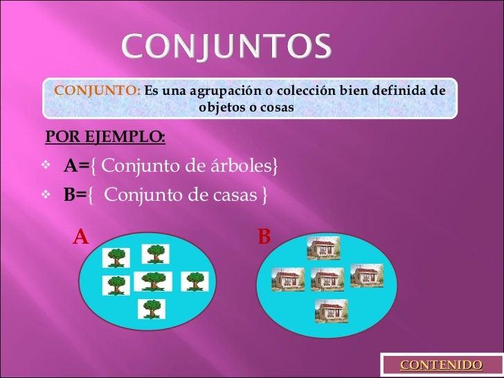 EJEMPLOS DE CONJUNTOS Slide 3