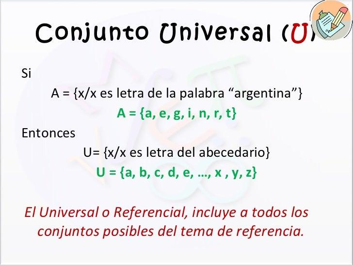Conjuntos for Universal definicion