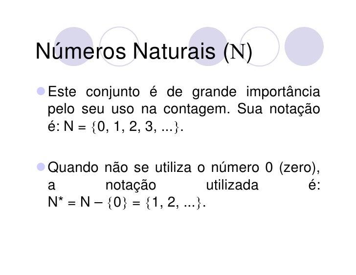 Conjuntos NuméRicos Slide 3