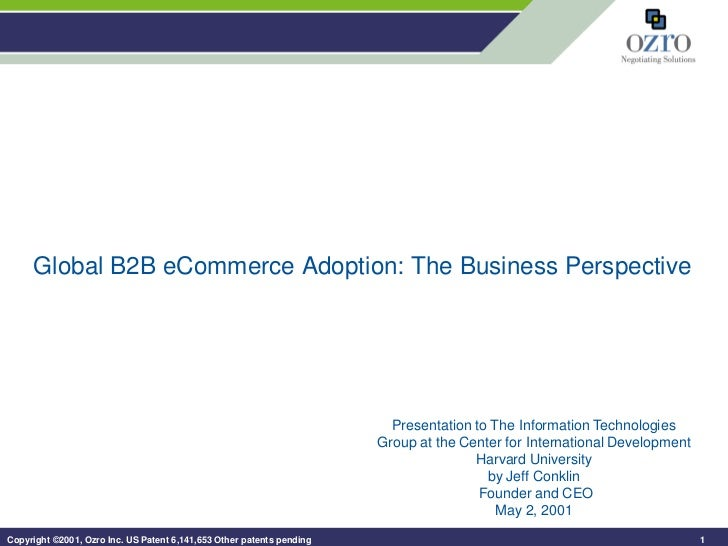 Global B2B eCommerce Adoption: The Business Perspective                                                                   ...