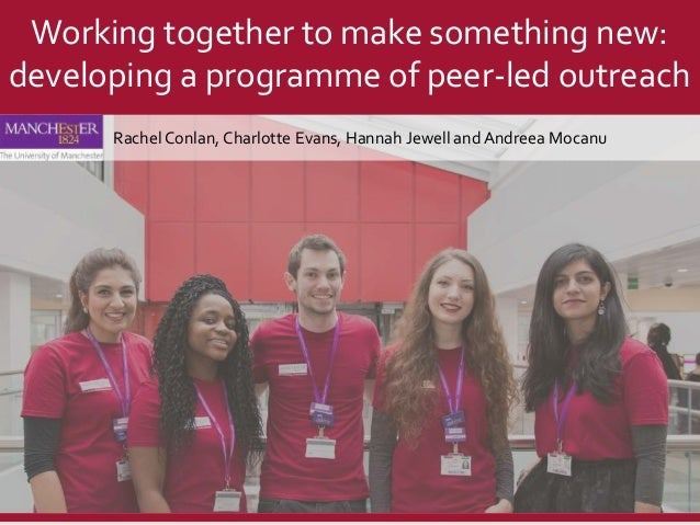 Rachel Conlan, Charlotte Evans, Hannah Jewell and Andreea Mocanu Working together to make something new: developing a prog...