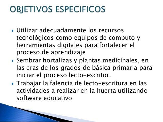        Reforzar el trabajo y manejo de operaciones básicas con los recursos naturales de la vereda de El Salero y medi...