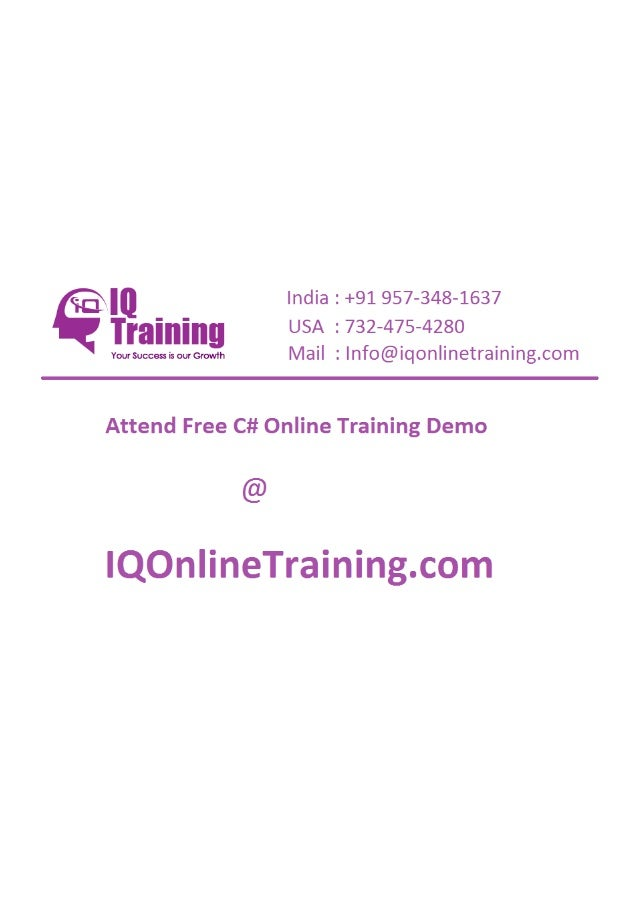 C# online training in hyderabad india usa uk singapore australia