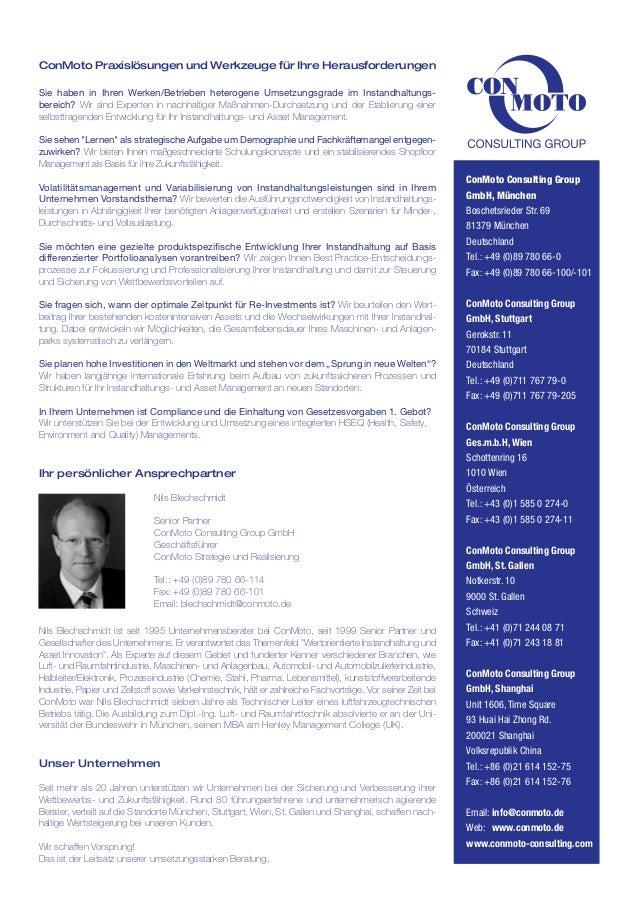 ConMoto Praxislösungen und Werkzeuge für Ihre Herausforderungen Sie haben in Ihren Werken/Betrieben heterogene Umsetzungsg...