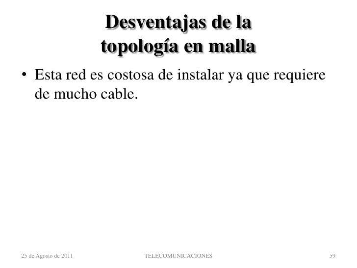 Topología de las redes de paquetes<br />