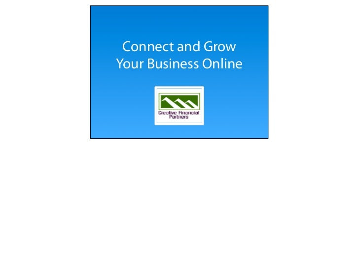 Connect and Grow Your Business Online