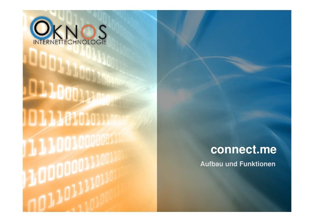 connect.me Aufbau und Funktionen
