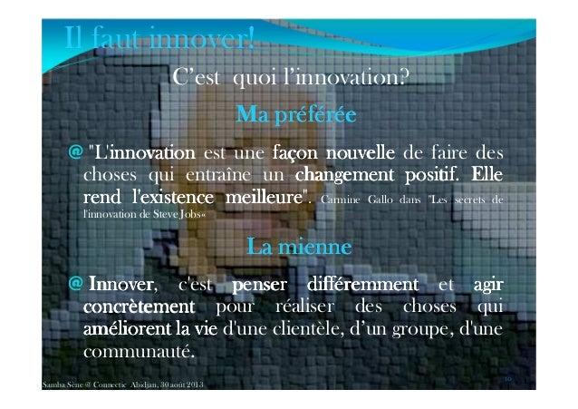 """C'est quoi l'innovation? MaMaMaMa préféréepréféréepréféréepréférée @ """"L'innovationinnovationinnovationinnovation est une f..."""