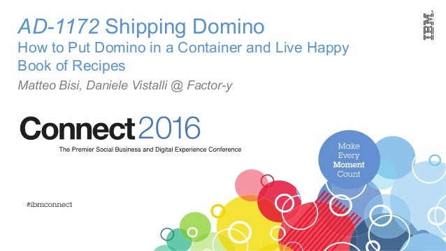 AD-1172 Shipping Domino How to Put Domino in a Container and Live Happy Book of Recipes Matteo Bisi, Daniele Vistalli @ Fa...