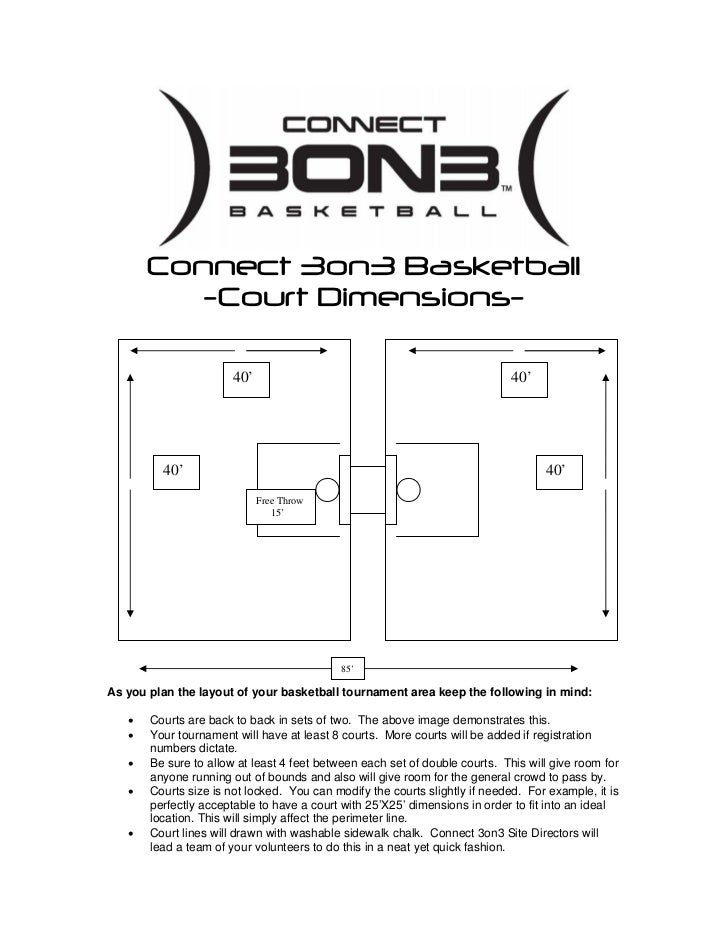 Connect 3on3 Court Dimensions