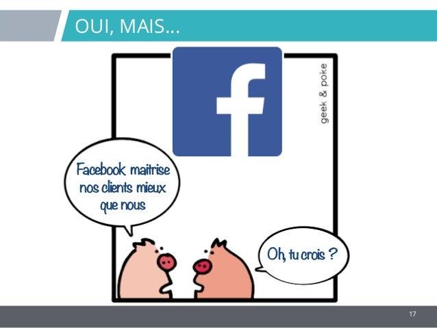 17 OUI, MAIS… Facebook maitrise nosclients mieux quenous Oh,tucrois ?