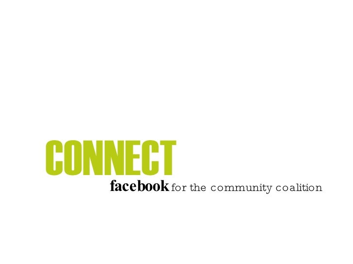 CONNECT facebook  for the community coalition