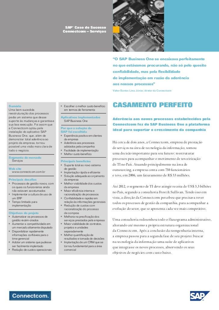 SAP® Caso de Sucesso                                        Connectcom – Serviços                                         ...