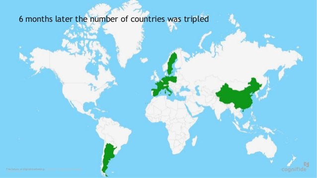 The future of digital marketing. London, Poland, Copenhagen. © 24/06/2015 Page 11 6 months later the number of countries w...
