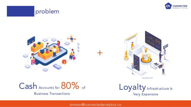 simeon@connectedanalytics.co problem + CashAccounts for 80% of Business Transactions LoyaltyInfrastructure Is Very Expensi...