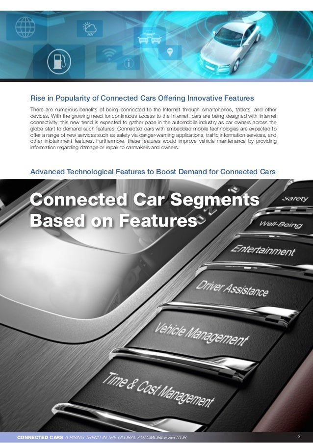 Connected cars   a rising trend in the global automobile sector Slide 3