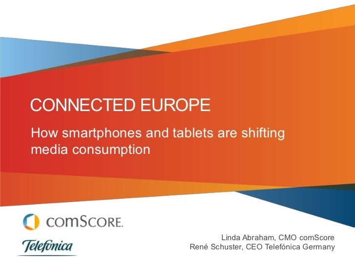 CONNECTED EUROPEHow smartphones and tablets are shiftingmedia consumption                               Linda Abraham, CMO...
