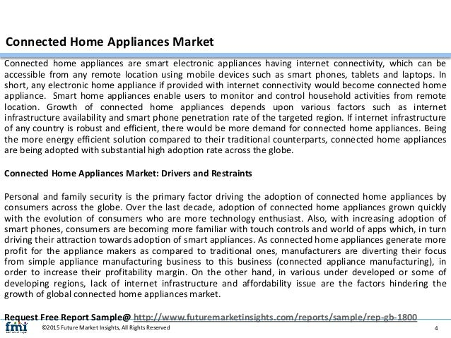 Connected M2M Home Appliance Market in the US 2014-2018