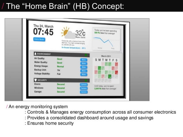 Connected Home- HomeBrain   Internet of Things project Slide 3
