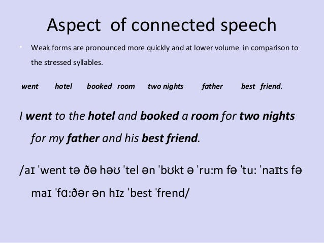 connected speech exercises with answers pdf