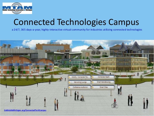 Connected Technologies Campus a 24/7, 365 days-a-year, highly-interactive virtual community for industries utilizing conne...