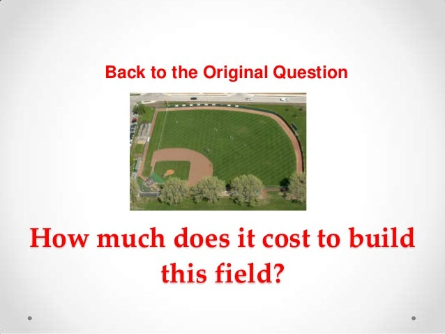 How Much Does It Cost To Build A Softball Field