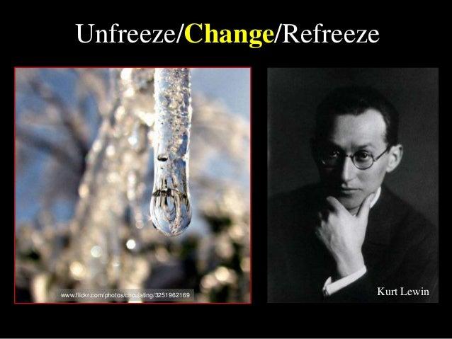 Unfreeze/Change/Refreeze www.flickr.com/photos/circulating/3251962169 Kurt Lewin