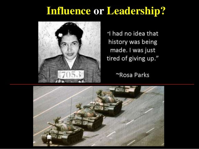 Influence or Leadership?